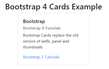 Bootstrap 4 Cards Example | CSS | View | Design | layout