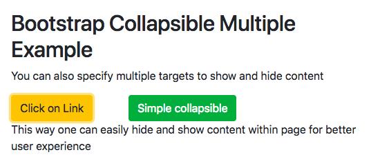 Bootstrap 4 Collapsible Example | CSS | navbar | menu | horizontal