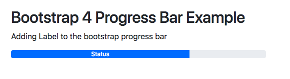 Bootstrap 4 Progress Bar Example | Color | height | animate