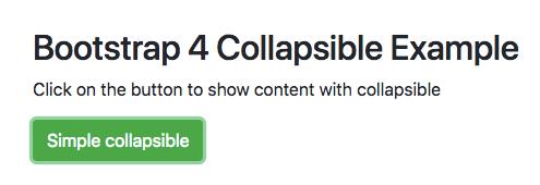 Bootstrap 4 Collapsible Example | CSS | navbar | menu