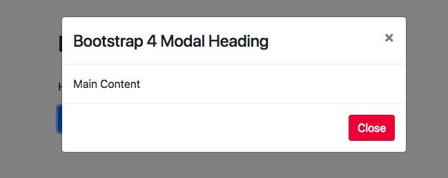 Bootstrap 4 Modal Example | CSS | Styles | Size | Open on
